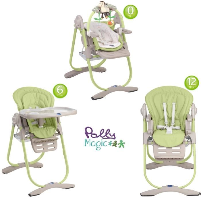 chicco-chaise-haute-3en1-polly-magic-lime