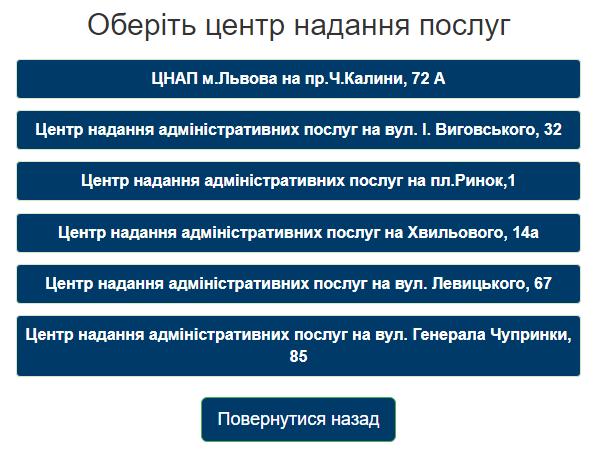 ЦНАПи Львова